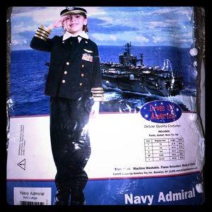 NWT Boys Navy Admiral costume